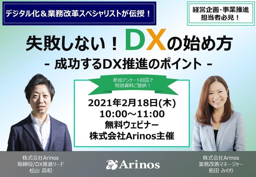 デジタル化&業務改革スペシャリストが教える!失敗しない「DXの始め方」~成功するDX推進のポイント~