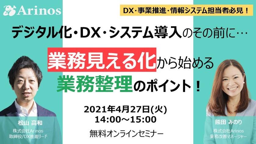 DX・デジタル化・システム導入その前に…業務見える化から始める業務整理のポイント!