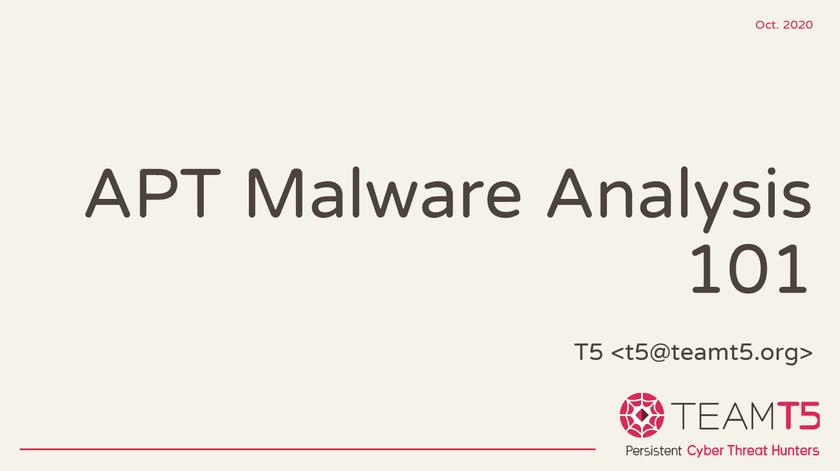 TeamT5が CODE BLUE 2020 にてワークショップを開催!マルウェア解析入門編「APT Malware Analysis 101」の受付は間もなく締め切りです!