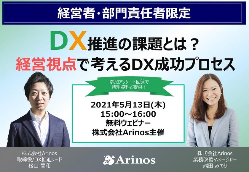 <経営者・部門責任者限定開催>DX推進の課題とは?経営視点で考えるDX成功プロセス【無料】オンラインセミナー