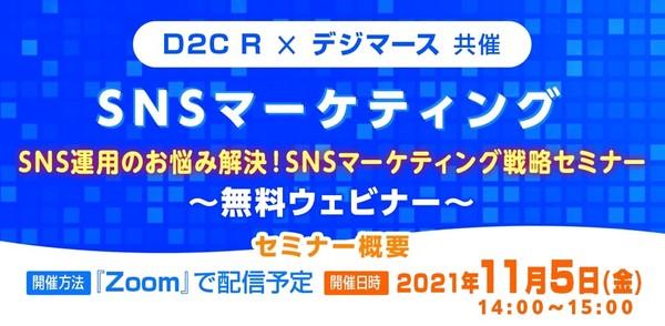 【D2C R×デジマース共催】 SNS運用のお悩み解決!SNSマーケティング戦略セミナー