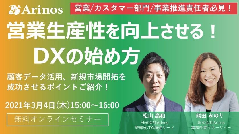 営業生産性を向上させる!DXの始め方~新たな提供価値を創出するDX成功のポイント~
