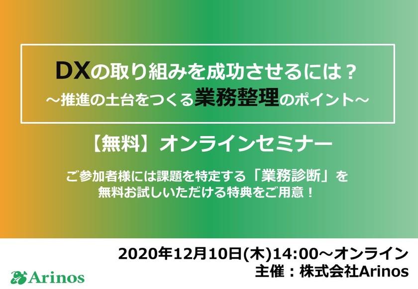 〜DXの取り組みを成功させるには? ~推進の土台をつくる業務整理のポイント~【無料】オンラインセミナー