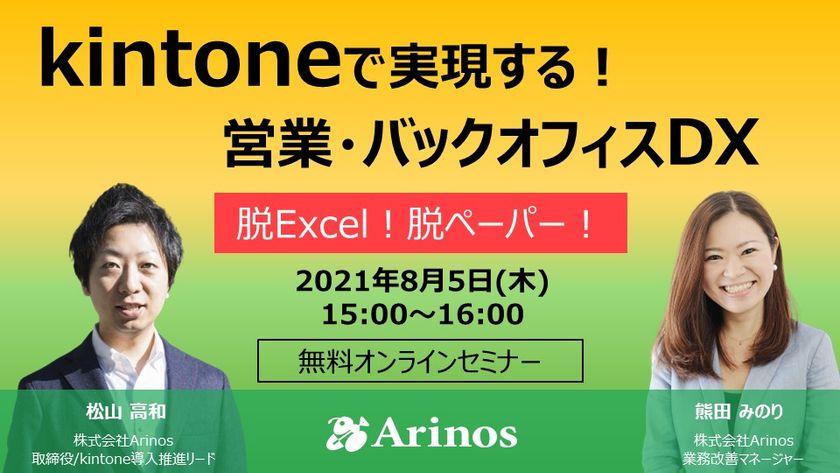 kintoneで実現!営業・バックオフィスDX ~脱Excel・脱ペーパーのコツ~