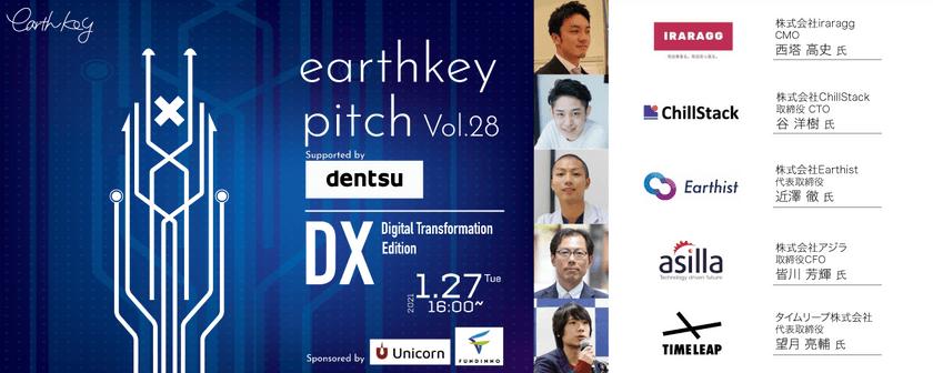 未来を覗けるスタートアップピッチイベント~DX編~ 【earthkey pitch vol.28】