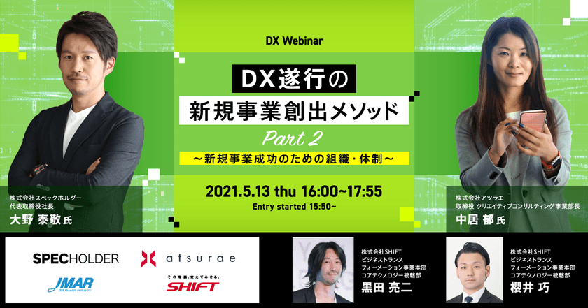 DX遂行の新規事業創出メソッド Part2 ~ 新規事業成功のための組織・体制~