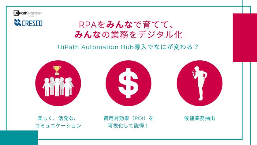 RPAをみんなで育ててみんなの業務をデジタル化 ~UiPath Automation Hub導入でなにが変わる?~